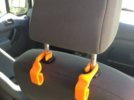 car trash hook 3d printed