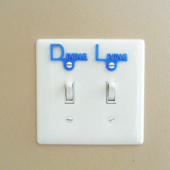 electric switch labels 3d print