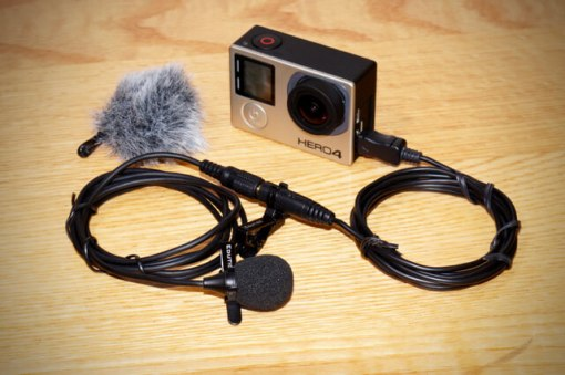 How to reduce wind noise GoPro external microphone