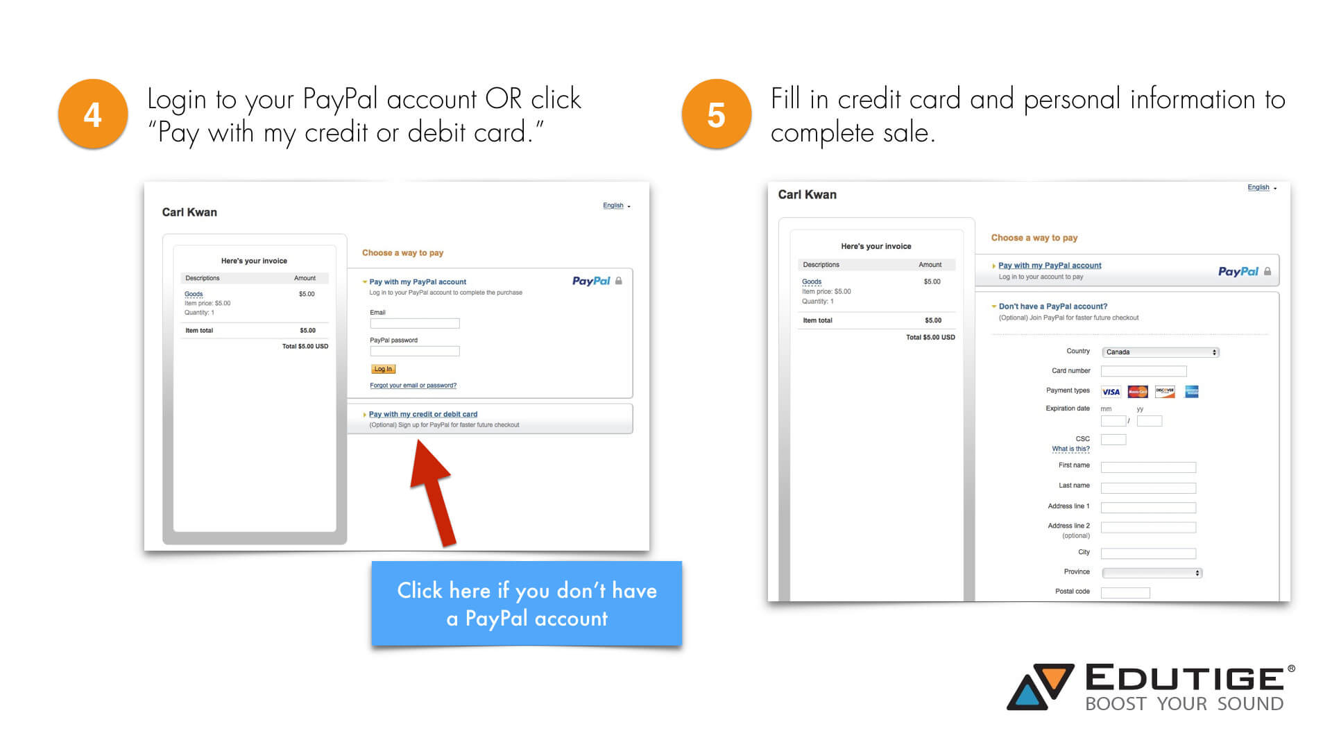 edutige how to pay paypal invoice without paypal account