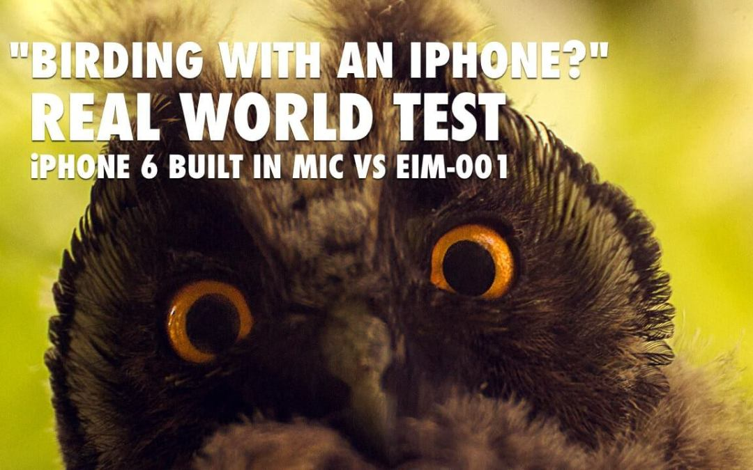 Best External Mic for Birding with iPhone 6 – EIM 001 vs iPhone 6 [VIDEO]