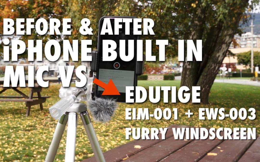 Before & After: iPhone Built In Mic vs EIM-001 with EWS-003 Furry Windscreen