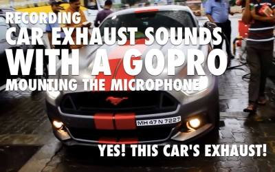 Recording Car Exhaust Sounds with a GoPro: Mounting the Microphone