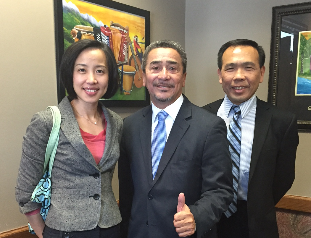 Meet State Senator William Delgado (middle) with Deputy Director Erica Lee (left)