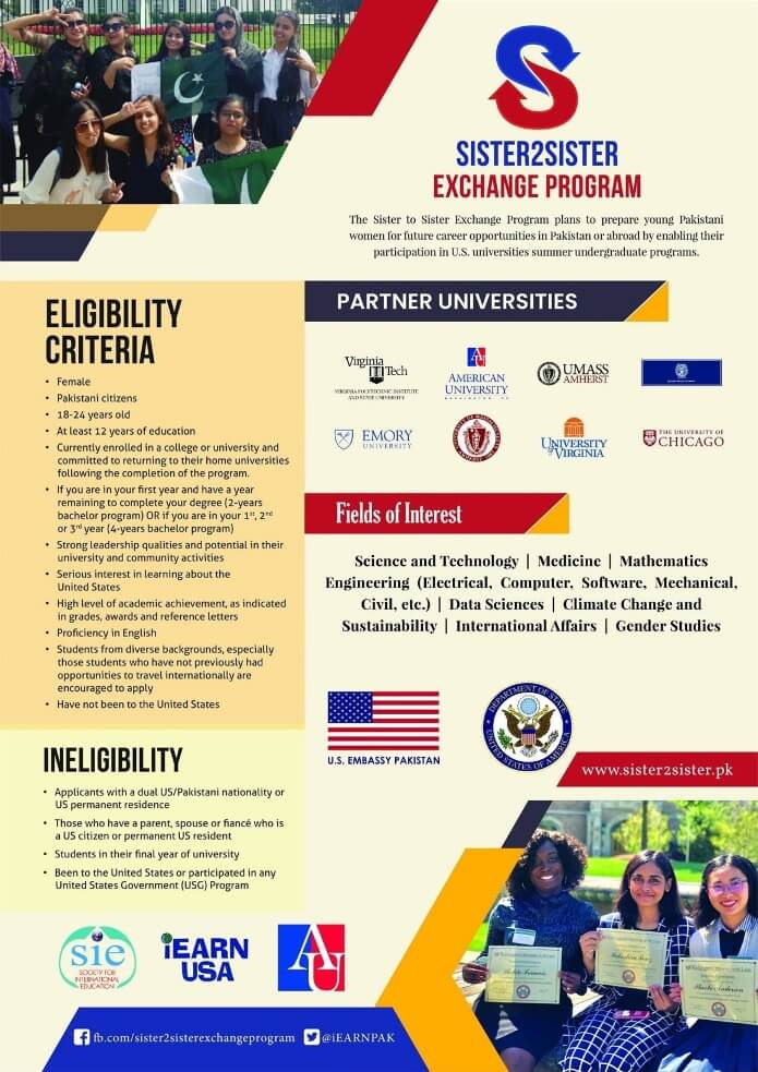 Us Sister To Sister Summer Exchange Program For Study In Us