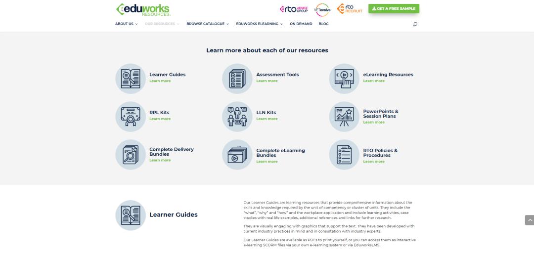 Upgraded Eduworks Resources Website resources 2