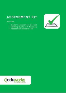 Assessment Kit - CPPDSM4049A Implement maintenance plan for managed properties