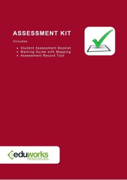 Assessment Kit - CHCLAH008 Provide leisure education