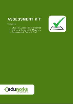 Assessment Kit - CPPDSM4015B Minimise agency and consumer risk