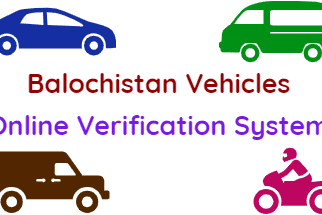 Verify Balochistan Vehicles Online Verification System fi