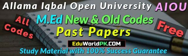 AIOU MEd Code 680 Past Papers