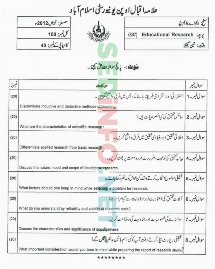 AIOU-MEd-Code-837-Past-Papers-Autumn-2012