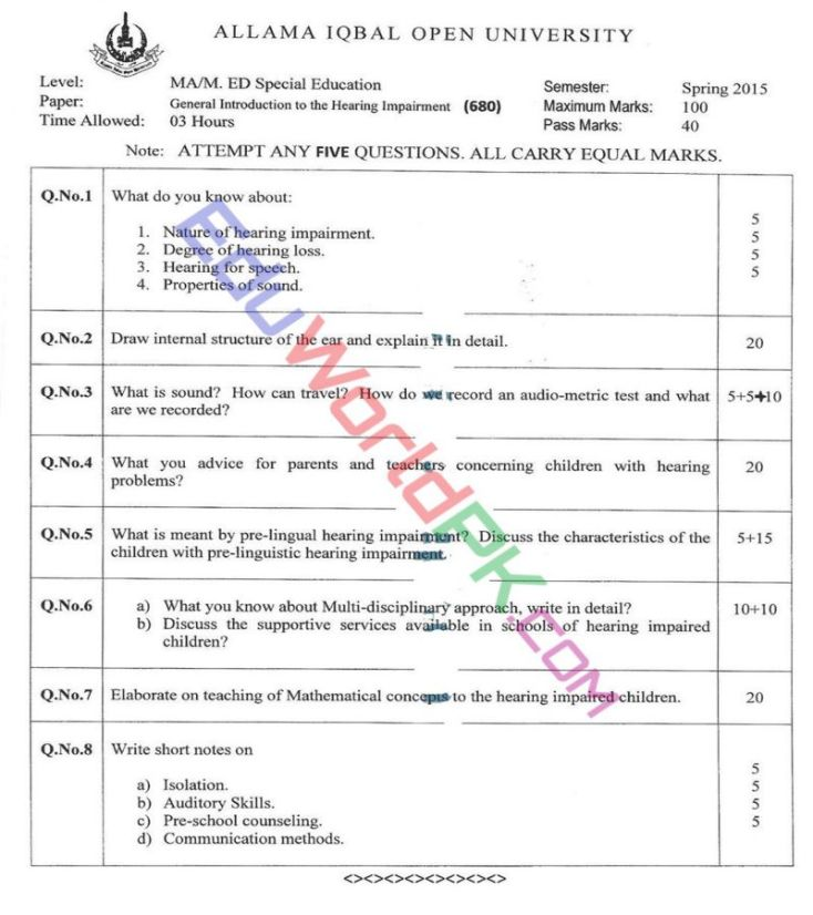 AIOU-MEd-Code-680-Past-Papers-Spring-2015