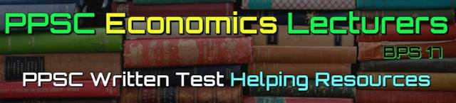 Past Papers & Helping Books for Economics Lecturers Test 2020