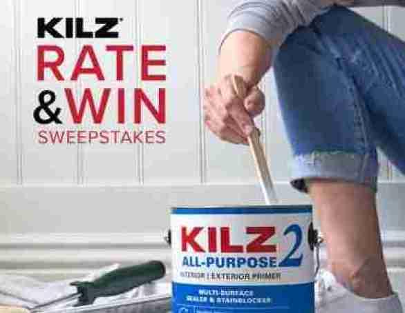 KILZ Rate & Win Sweepstakes