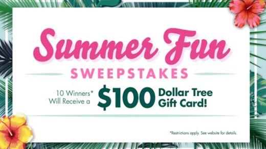 Dollar Tree Summer Fun Gift Card Giveaway