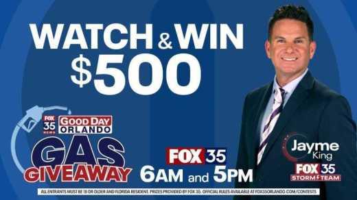 Fox 35 Good Day Orlando $500 Gift Card Contest