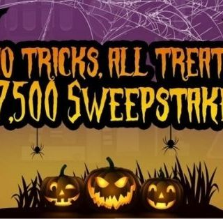 No tricks All treats $7500 Sweepstakes
