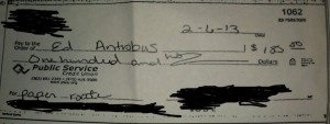 A bad assumption led to this check bouncing