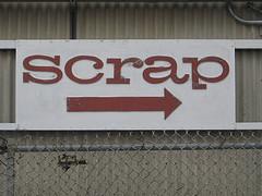 SCRAP sign