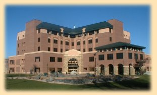 The Larimer County Justice Center houses the courts for Larimer County