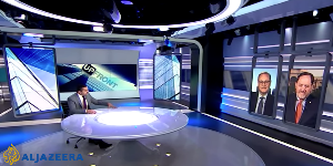 """James Galbraith & I debate inequality & whether investors' rights to free speech improve or suboptimize economic policy on Al-Jazeera's """"Up Front."""""""