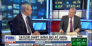"""Ed Conard take sides in Taylor Swift's fight with private equity over music rightsFox Business's """"Varney & Co."""""""