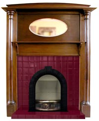 The Clarence Arch Insert Edwardian Fireplace