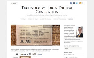 "Screen Capture of ""Technology for a Digital Generation"" homepage"