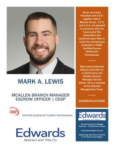 Mark Lewis – Certified Escrow Settlement Professional