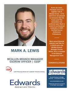2020 Mark Lewis CESP Announcement