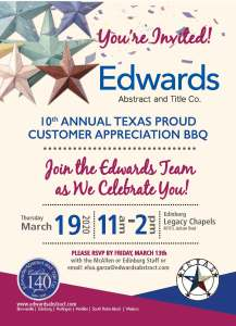 10th Annual Texas Proud Customer Appreciation BBQ
