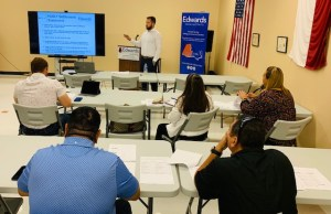 Mark Lewis, McAllen Branch Manager, Provides Customized Training for Team of Realtors