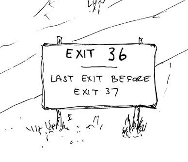 What exit?