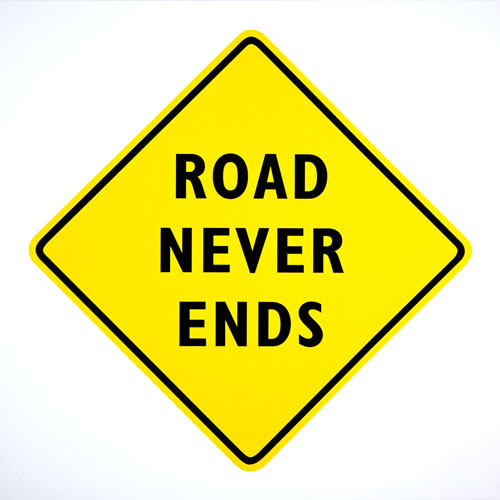 Edward Tufte, Road Never Ends, print on canvas, 29 ½
