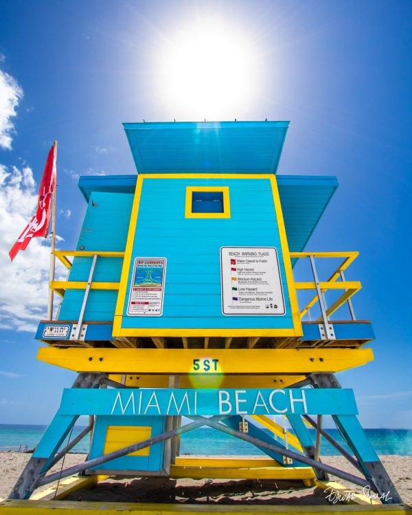 Lifeguard Tower 5 St Sunshine Portrait