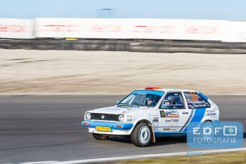 Rudy Schenkeveld - Joost Schenkeveld - VW Polo Coupe GT - Circuit Short Rally - Circuit Park Zandvoort