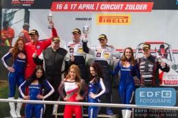 Finish podium Sport Divisie - New Race Festival - Circuit Zolder