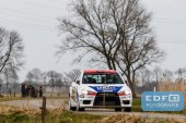 Jasper van den Heuvel - Lisette Bakker - Mitsubishi Lancer EVO 10 - Heuvel Motorsport - Zuiderzeerally 2016