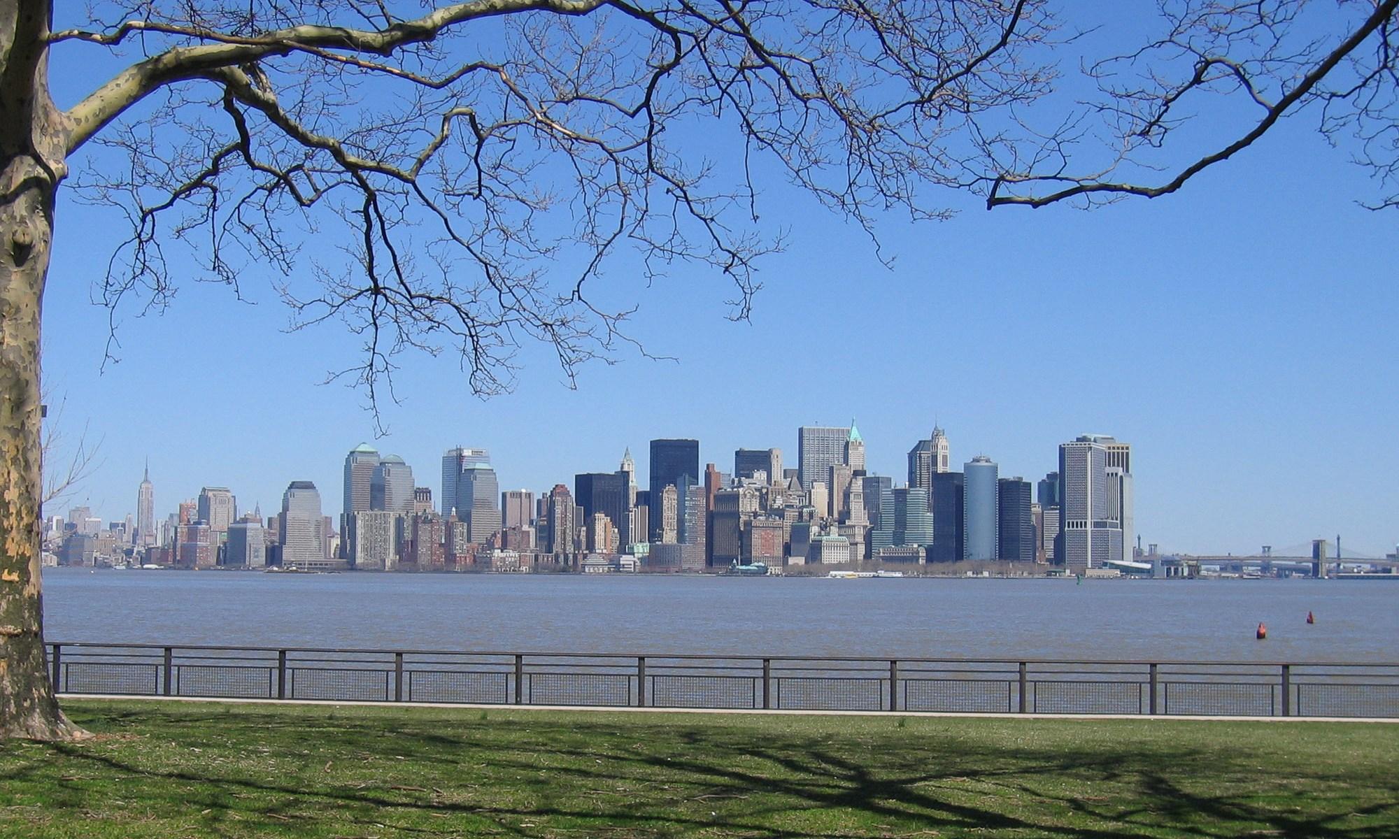 New York City skyline from Liberty Island