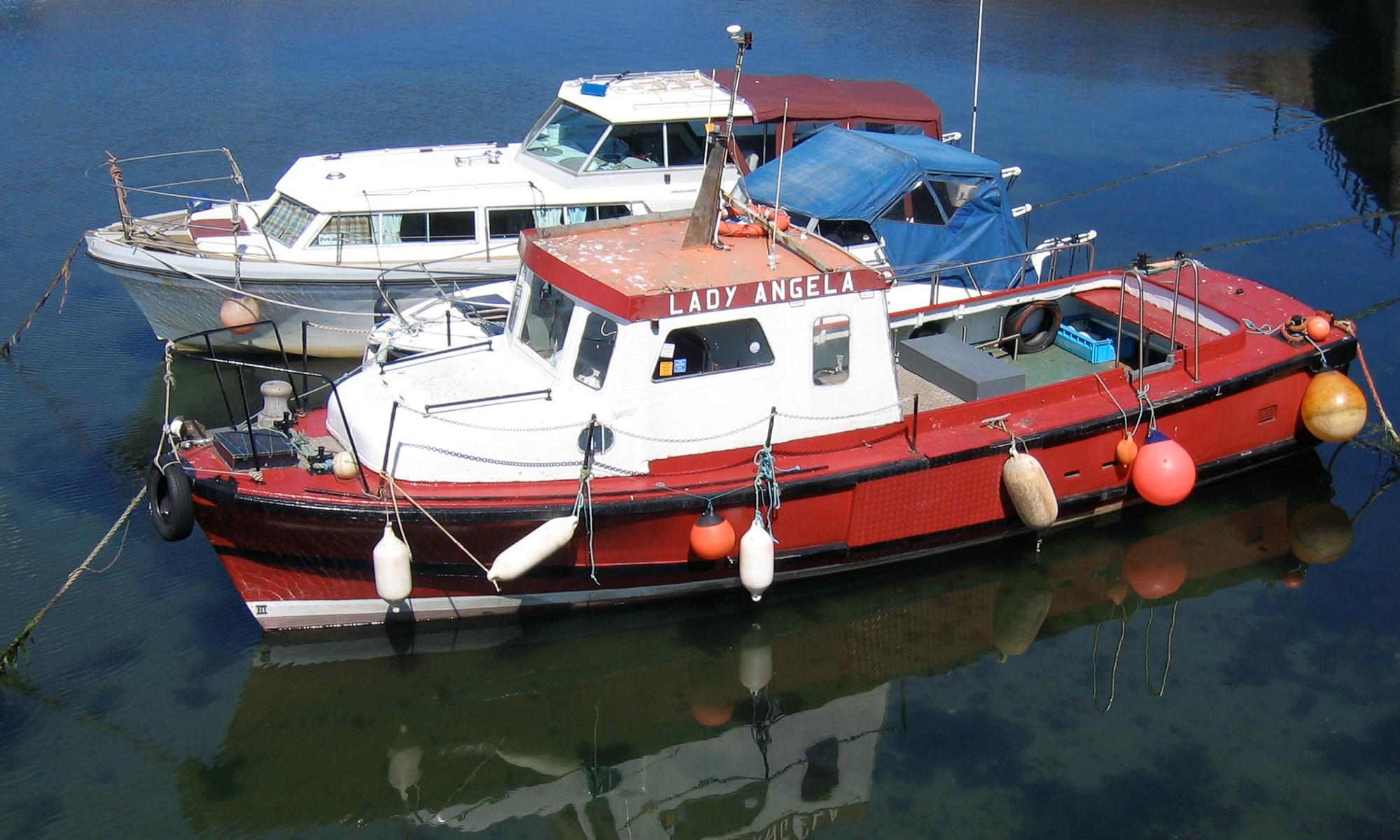 Boats at Dunbar Harbour, Scotland