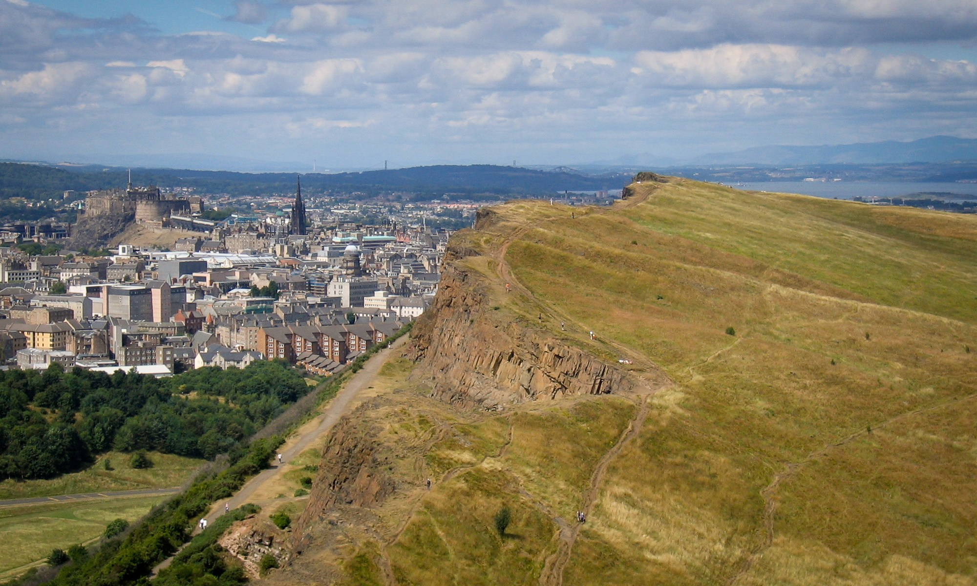 View from Arthur's Seat over Salisbury Crag's