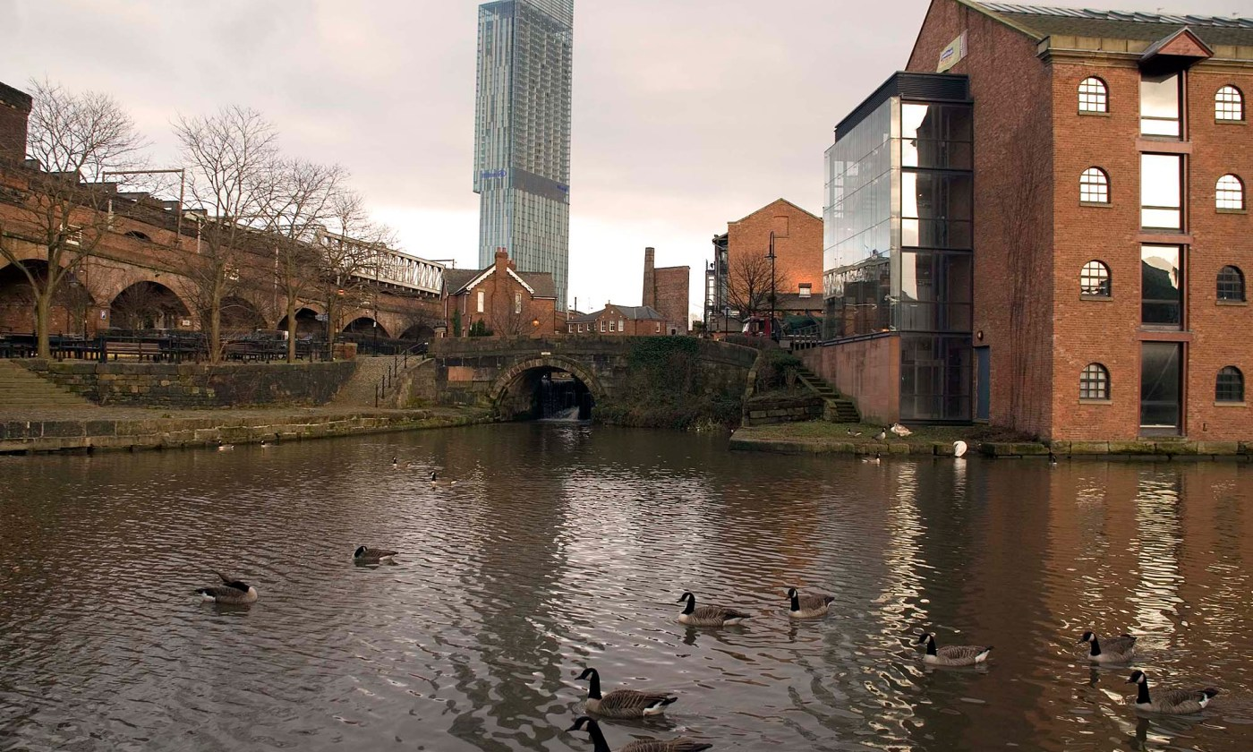 Beetham Tower over Castlefield, Manchester