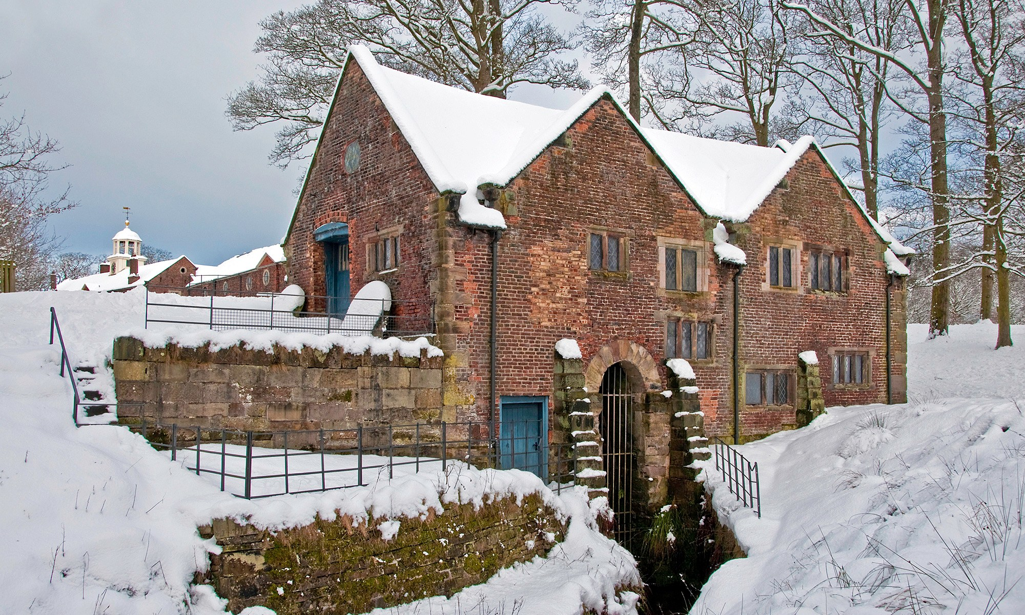 Dunham Massey Mill in the Snow