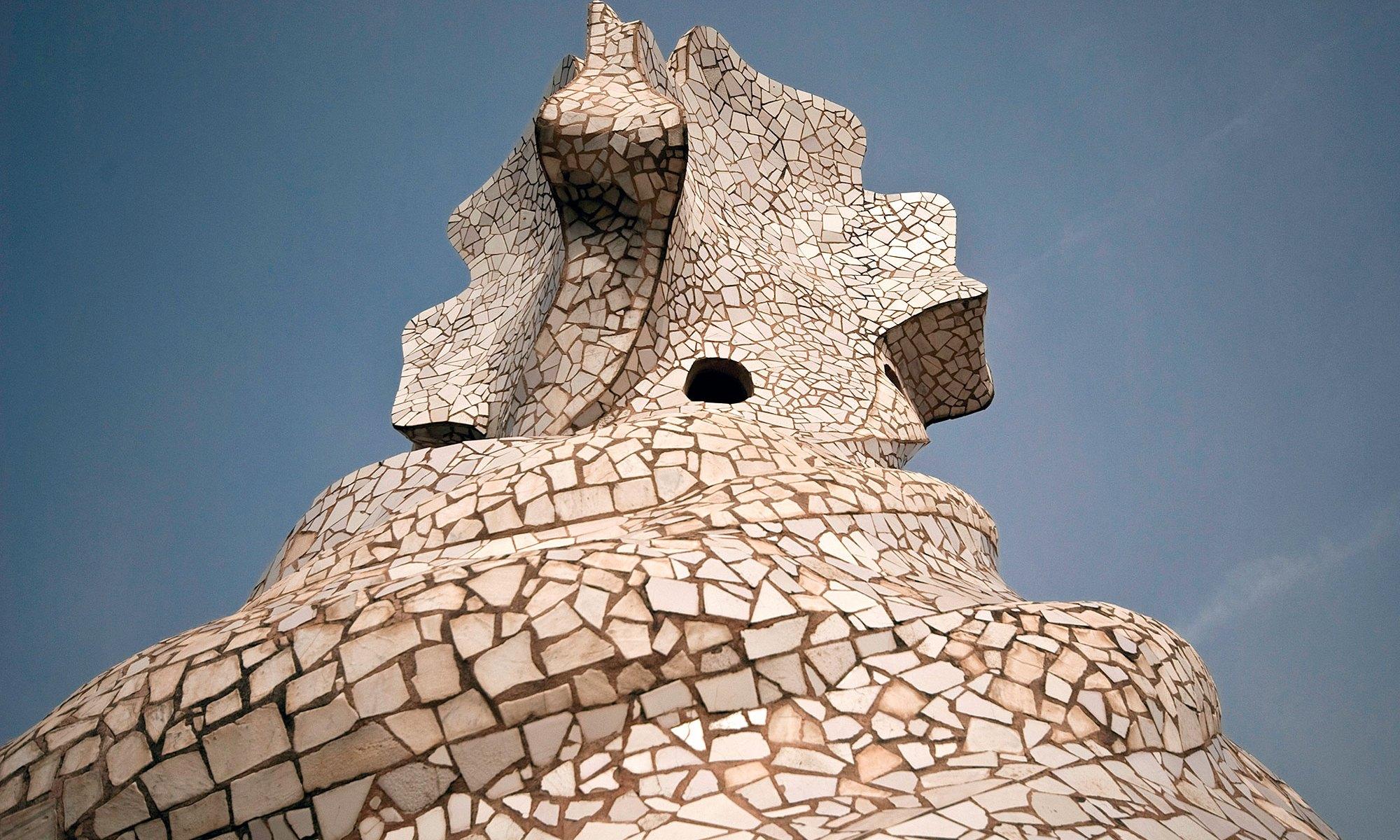 Tiled Roof Detail on Casa Mila