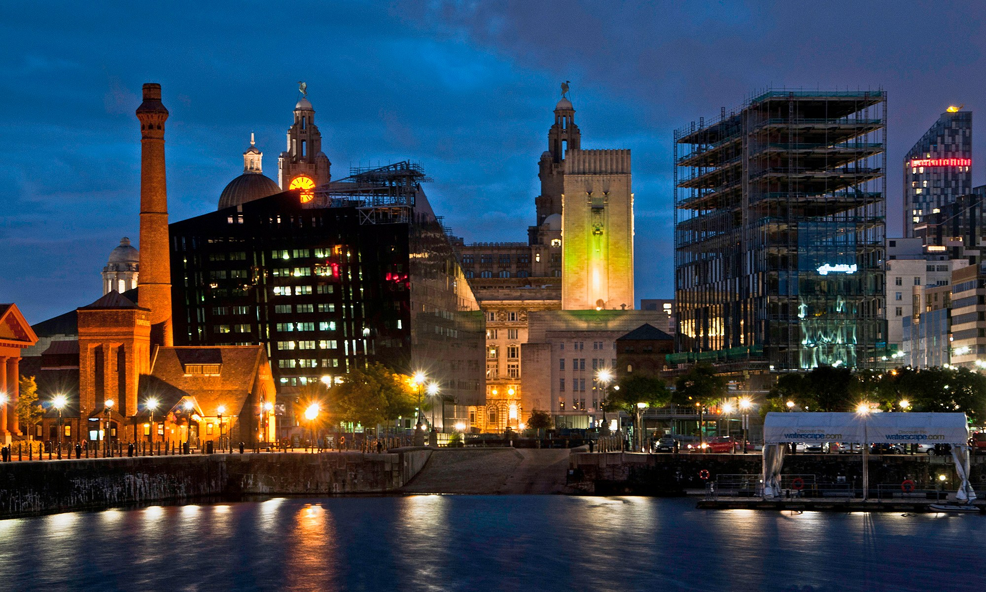 Liverpool's New Buildings at Night