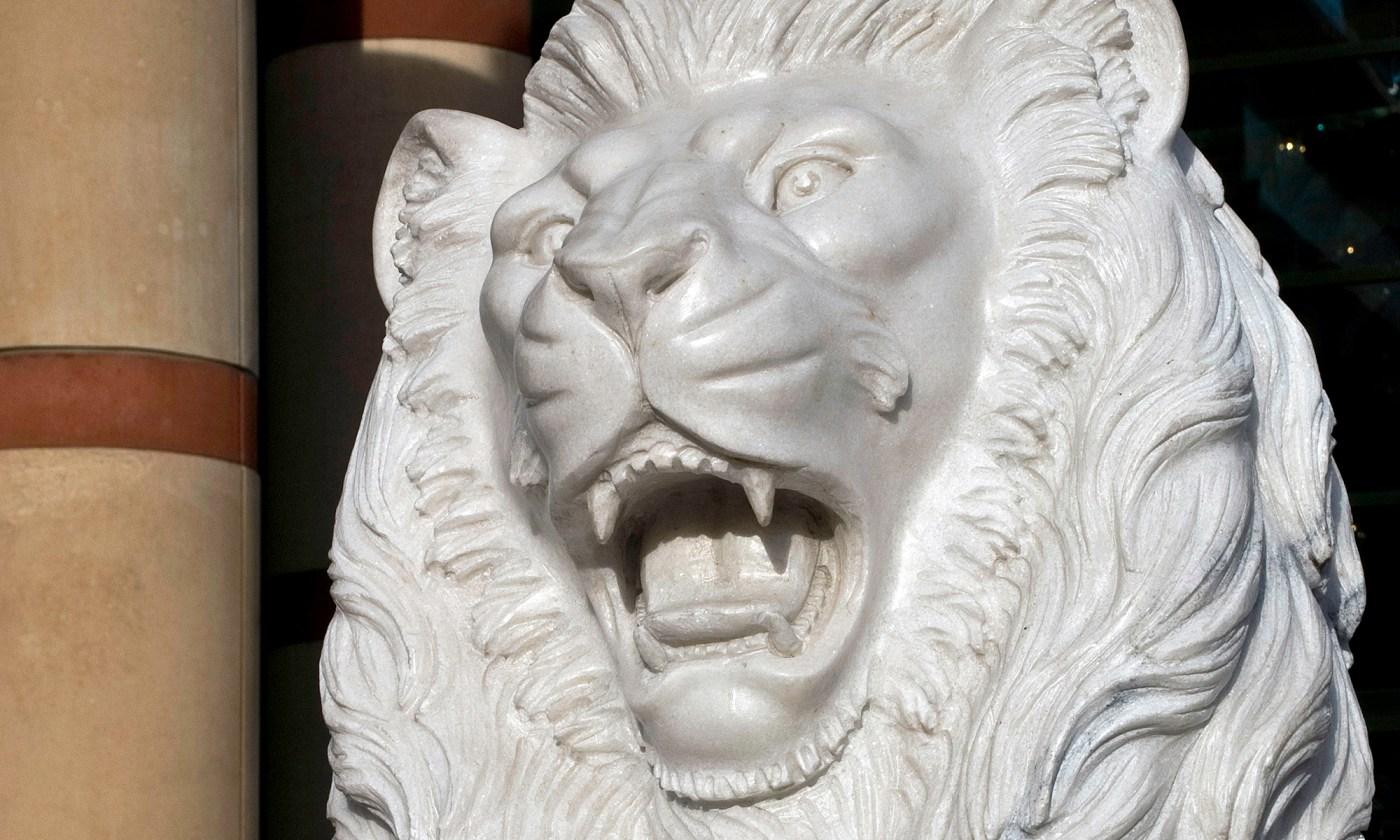 White Lion Statue at Trafford Centre