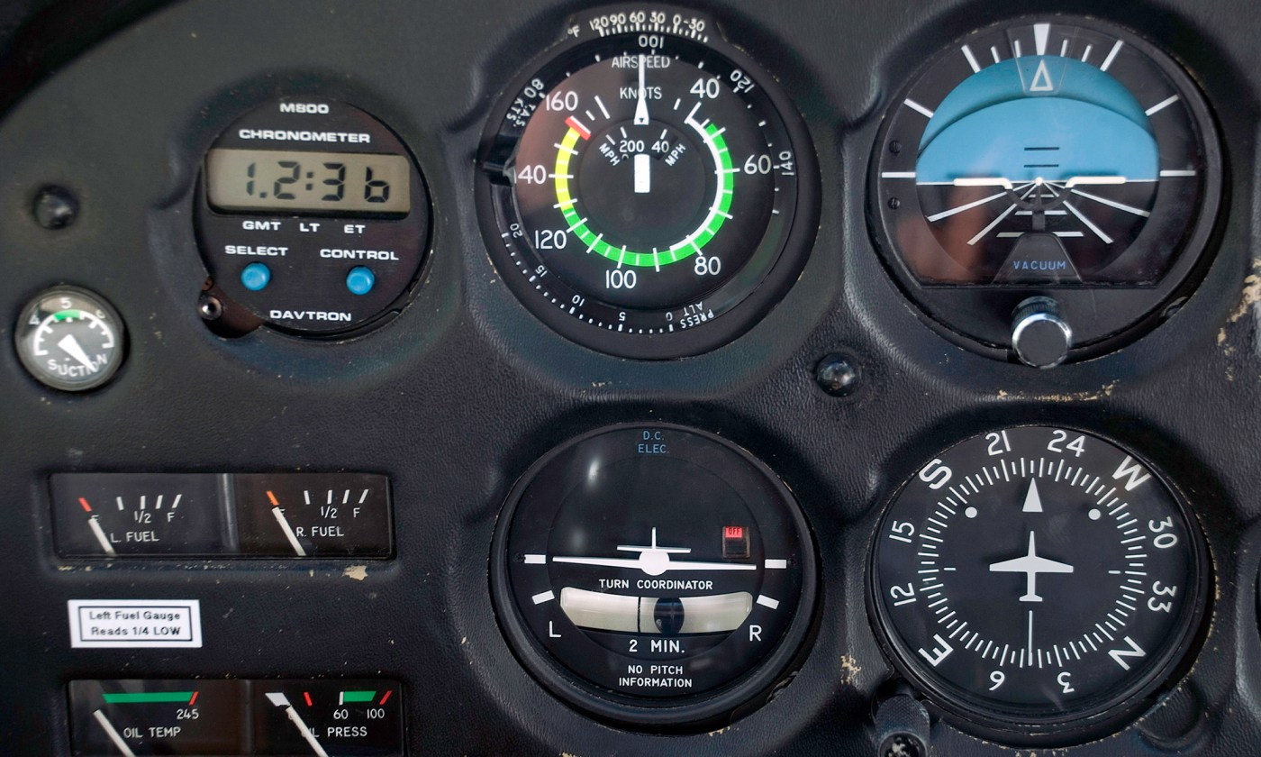 Instruments of Cessna 172