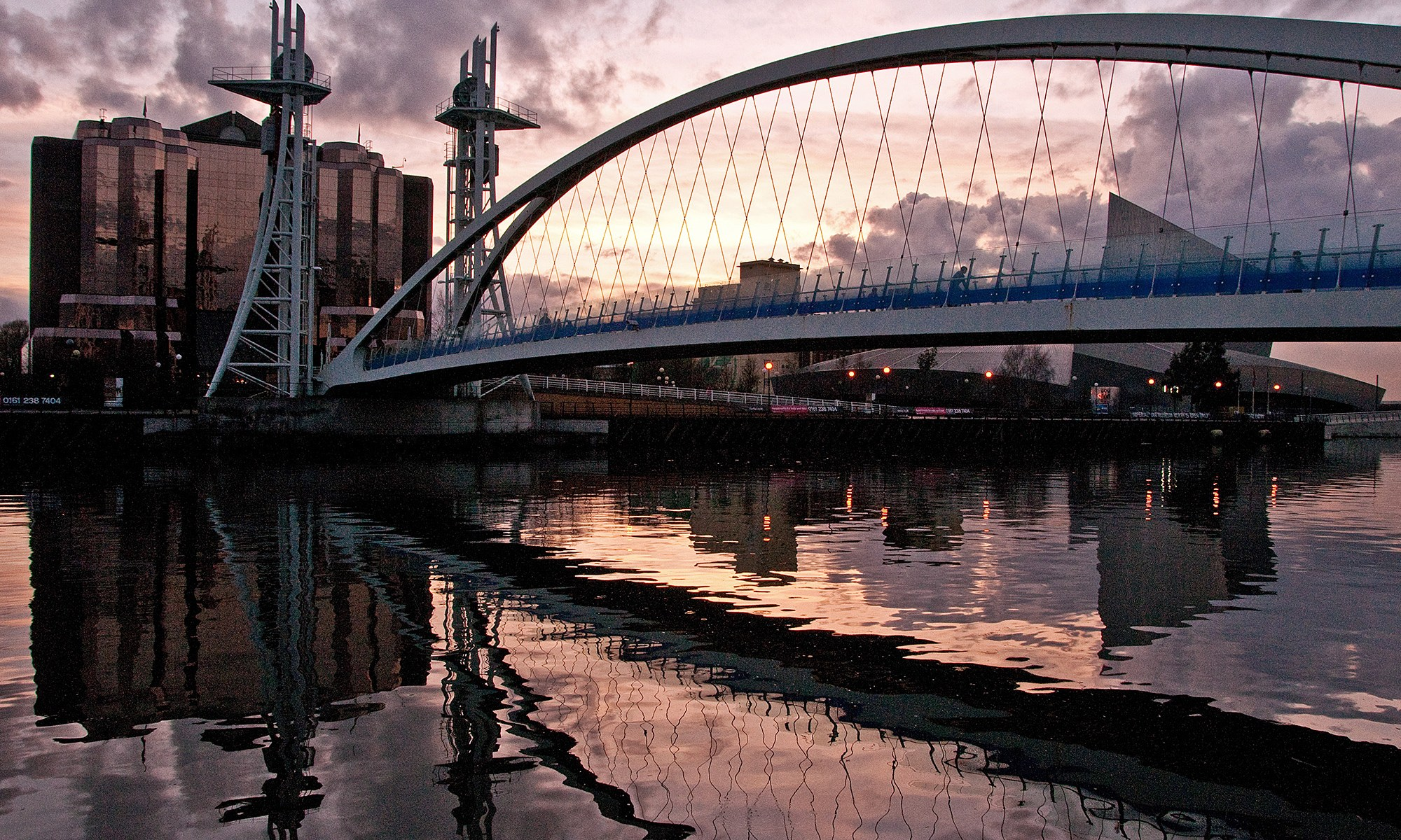 Quays Millennium Bridge at Sunset