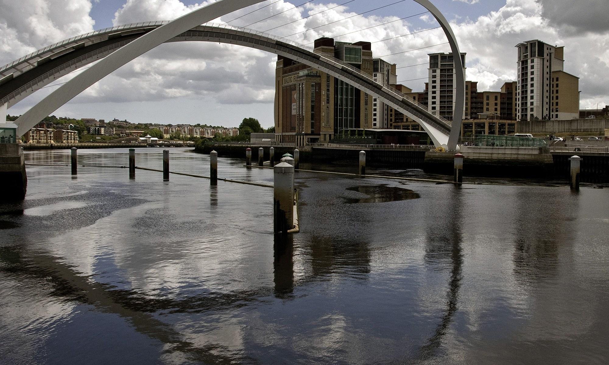 Gateshead Millennium Bridge Raised